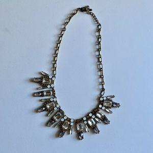 Statement Crystal bib necklace